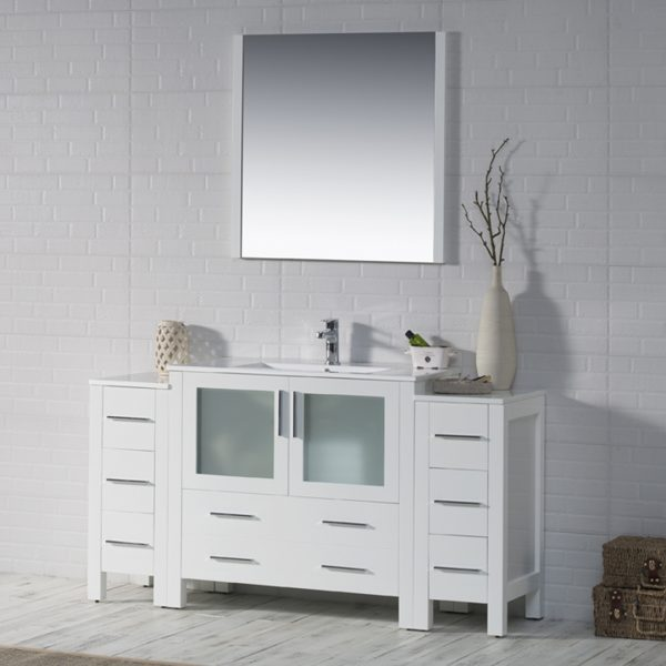 Sydney 60 Inch Vanity With Side Cabinet Blossom Kitchen Bath Supply Corporation