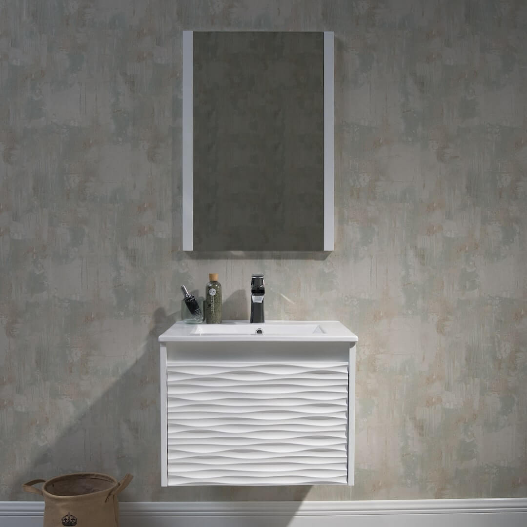 Glacier Bay Lancaster 24 Inch W X 19 Inch D Bathroom Vanity In White With Cultured Marble The Home Depot Canada
