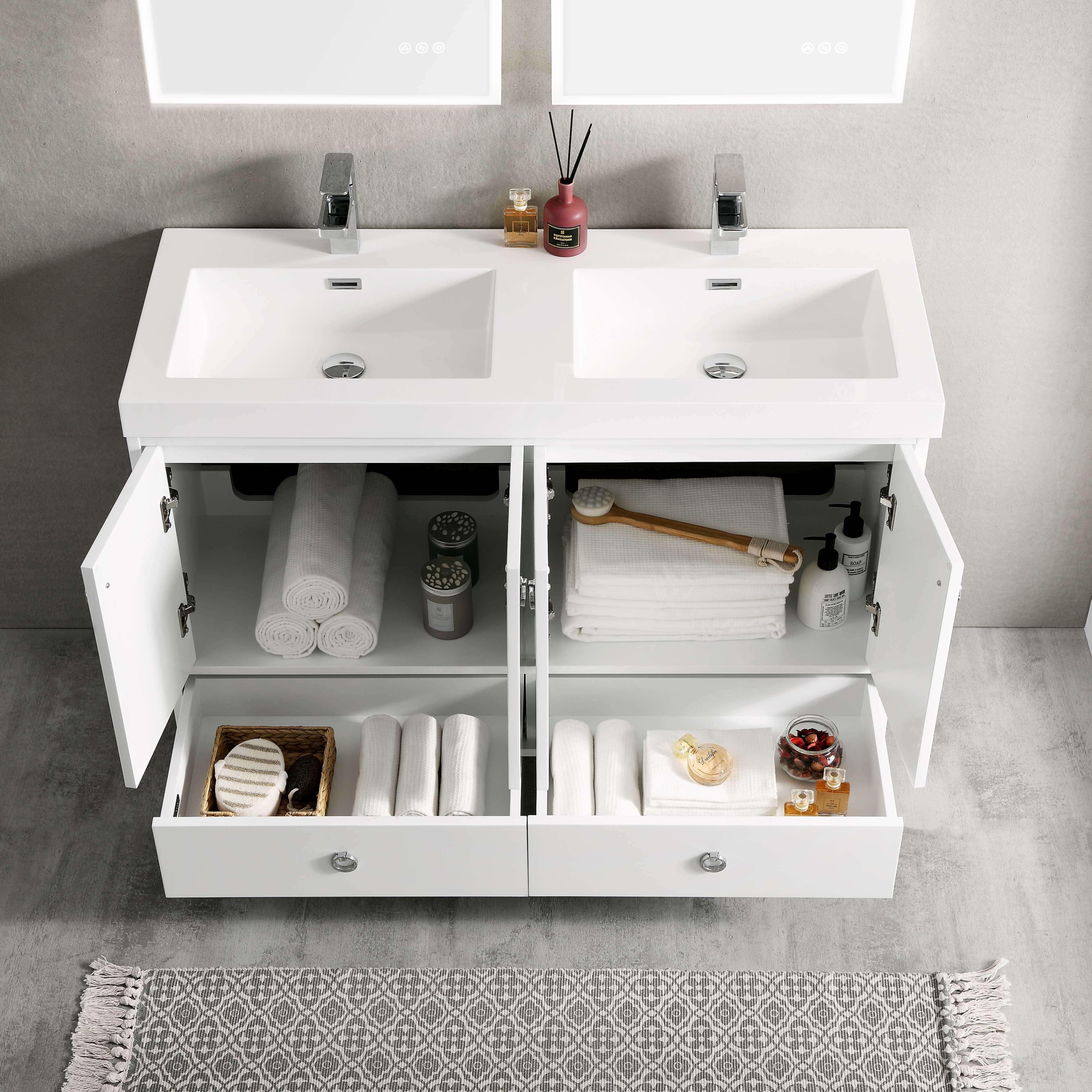 Lyon 48 Inch Vanity Double Sinks Blossom Kitchen Bath Supply Corporation
